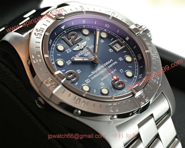 ブライトリングスーパーコピー 時計 オーシャン スティールフィッシュ X-PLUS 青 A179C66PRS