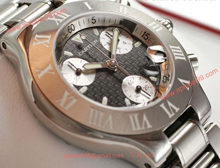 ブランド CARTIERカルティエ 時計コピー クロノスカフ W10172T2 黒