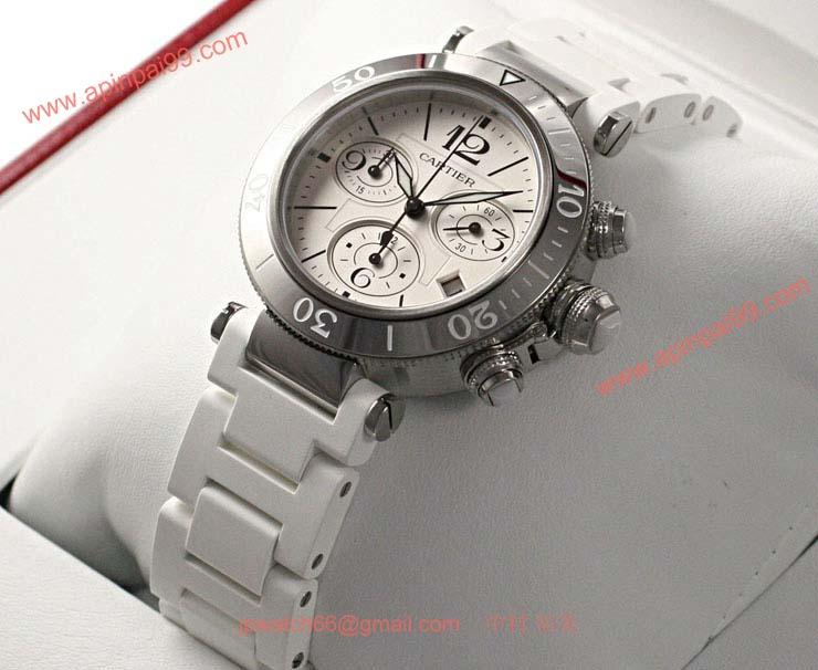 ブランド CARTIERカルティエ 時計コピー パシャ シータイマー レディー クロノグラフ W3140005