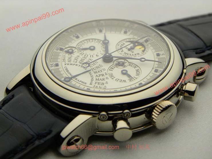 FRANCK MULLER フランクミュラー時計コピーレトログラード式パーペチュアルカレンダーダブルフェイスクロノグラフ 7000QPEDF
