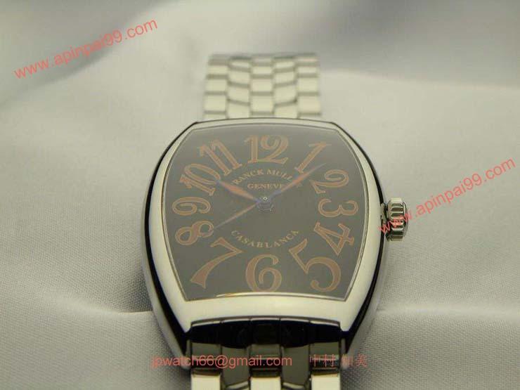 FRANCK MULLER フランクミュラー 時計 偽物 カサブランカ サハラ ブラック 6850CASA
