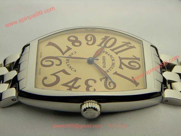 FRANCK MULLER フランクミュラー 時計 偽物 カサブランカ サハラ サーモンピンク 6850SAHA