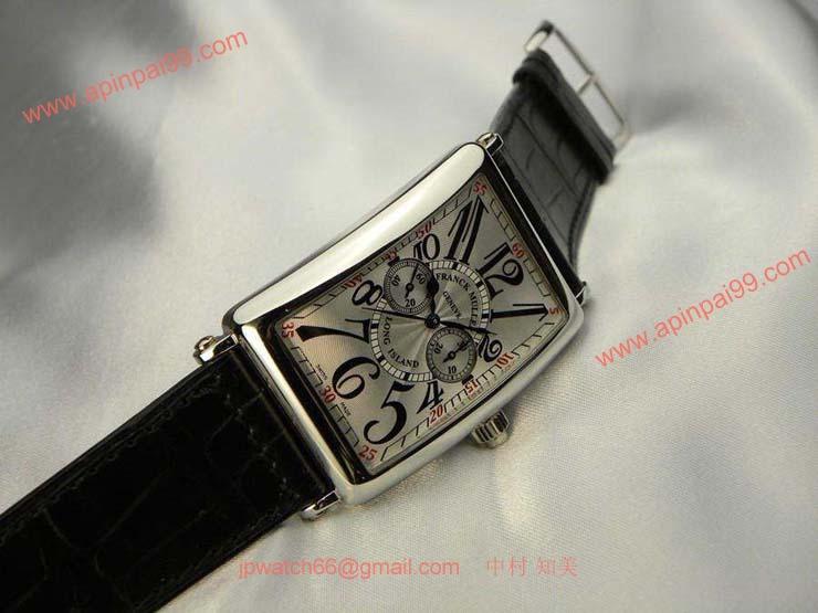 FRANCK MULLER フランクミュラー 時計 偽物 ロングアイランド モノプッシャー クロノグラフ 1100MP