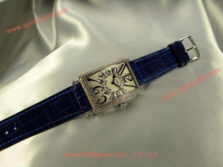 腕時計 コピー FRANCK MULLER フランクミュラー 激安 ロングアイランド レディース ダイヤモンド 952QZD