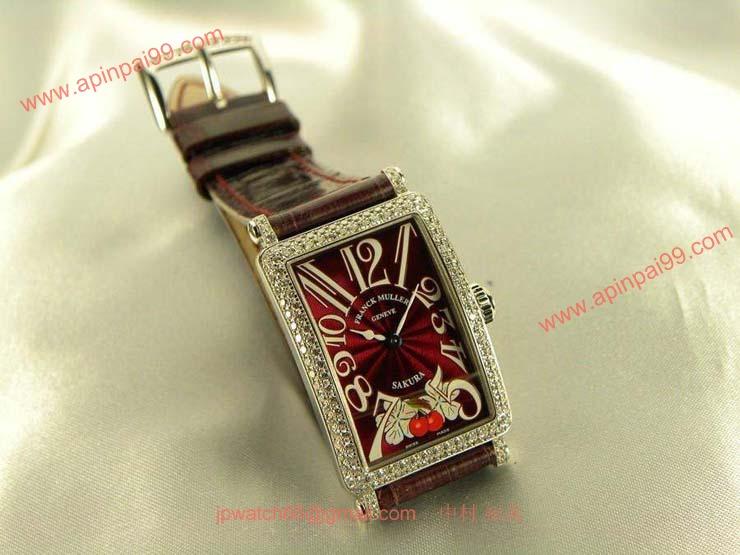 腕時計 コピー FRANCK MULLER フランクミュラー 激安 ロングアイランド サクラ ボルドー 902QZDSAKURA