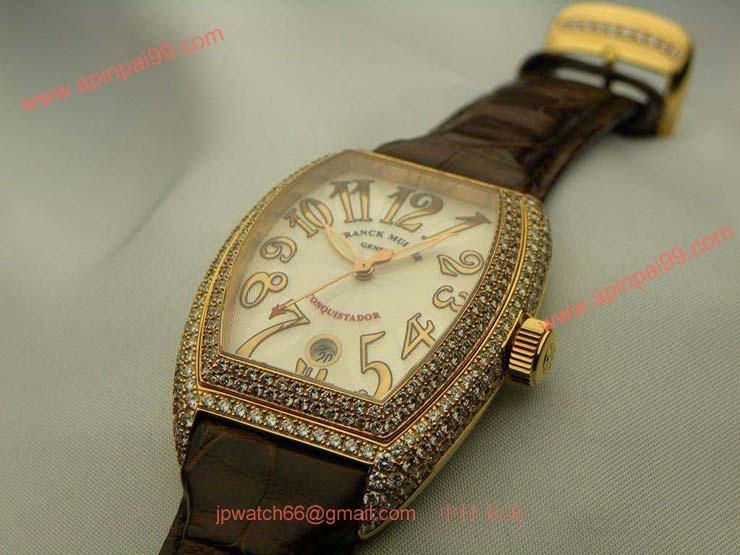 腕時計 コピー FRANCK MULLER フランクミュラー 激安 コンキスタドール 3rdモデル ダイヤモンド 8002SCD
