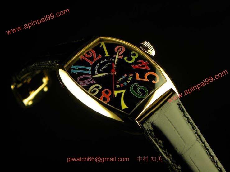 FRANCK MULLER フランクミュラー 偽物時計 トノウカーベックス カラードリーム 5850COLDREAMS