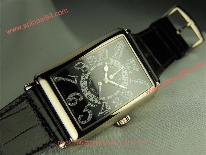 フランク・ミュラー コピー 時計 ロングアイランド ビーレトロセコンド ダイヤモンド 1100DSRCD OG Black