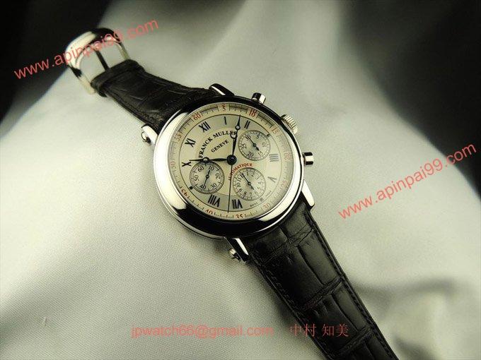 フランク・ミュラー コピー 時計 ラウンドクロノグラフ ホワイト 7002CCFF AC White