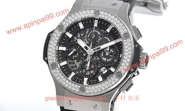 (HUBLOT)ウブロ コピー時計 ビッグバン アエロバン スチール ダイヤモンド 311.SX.1170.GR.1104