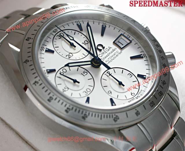 OMEGAOmega オメガ時計コピーマスター デイト シルバーダイアル ブルーハンド ブレスレット3211.32