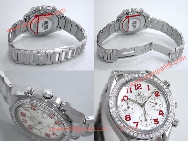 OMEGAオメガ コピー スピードマスター ダイヤベゼル ホワイトシェル/レッドアラビア 3535.79