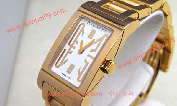 ブルガリ時計コピー Bvlgari 腕時計激安 レッタンゴロ 新品レディース RT39GG