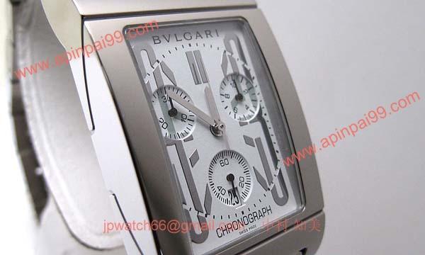 ブルガリ時計コピー Bvlgari 腕時計激安 レッタンゴロクロノ 新品メンズ RTC49WSSD